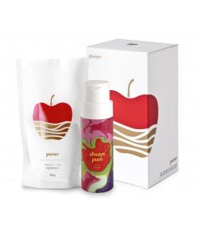 Эко-очиститель для фруктов и овощей «PURIER» в комплекте с флаконом, 100гр.