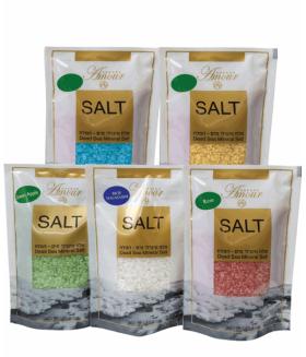 5429  Природная  соль Мертвого Моря богатая магнием Sea Salt White Small, 300г, 7290016361636