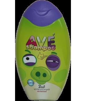 Шампунь для волос и тела детский AVE baby hair and Body Shampoo, объем упаковки 280 мл (Пурпурный)