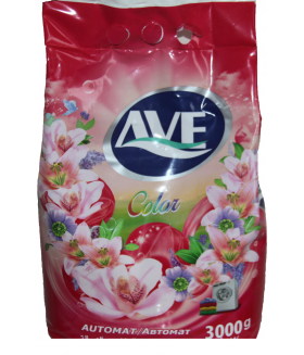 Порошок  стиральный автомат для стирки цветных вещей AVE Automate Laundry Detergent powder colour 3000 гр