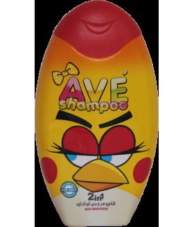 Шампунь для волос и тела детский AVE baby hair and Body Shampoo, объем упаковки 280 мл (Красный)